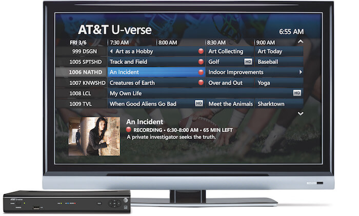 Review of the AT&T U-verse Total Home DVR | CableTV com