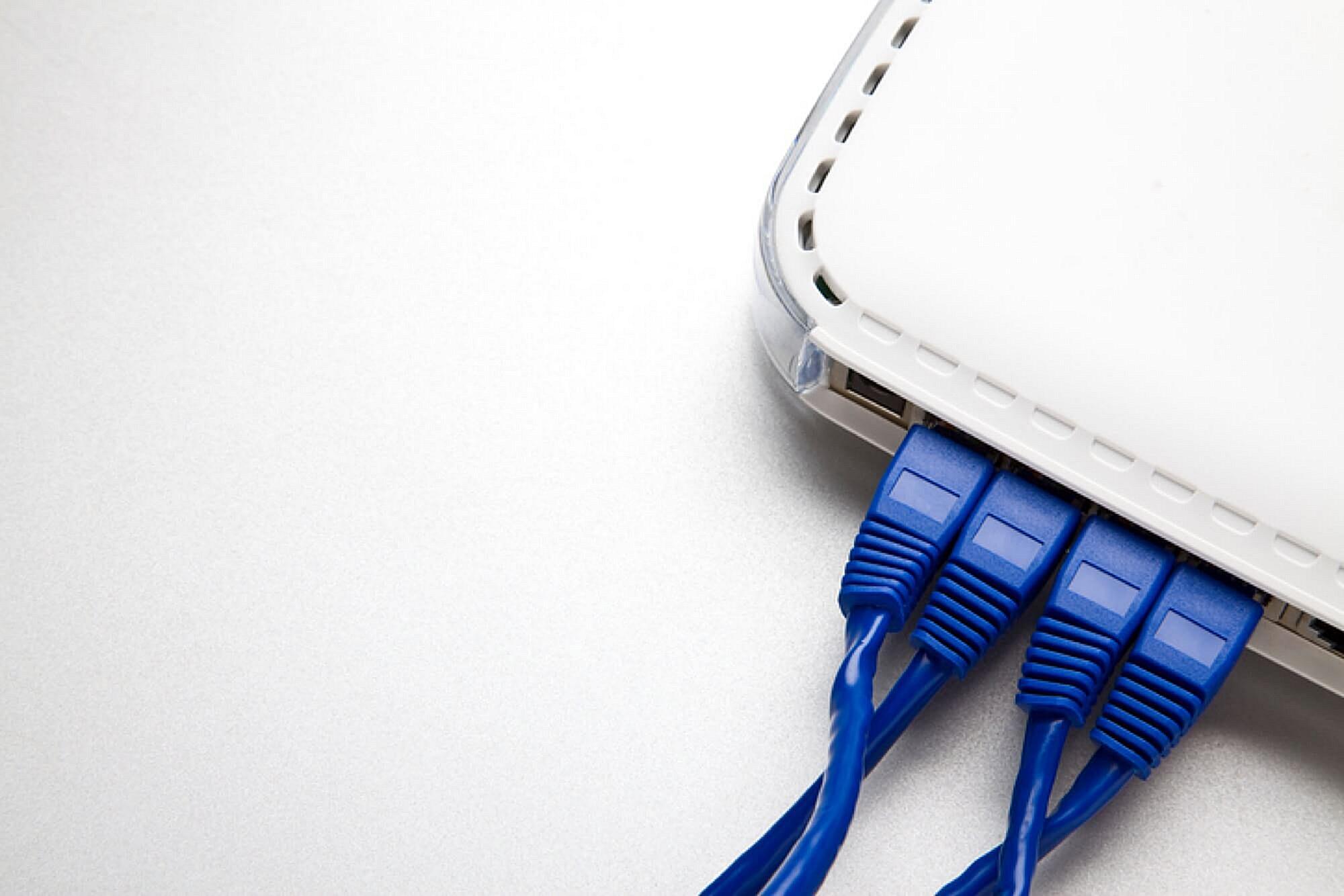 A cable modem box