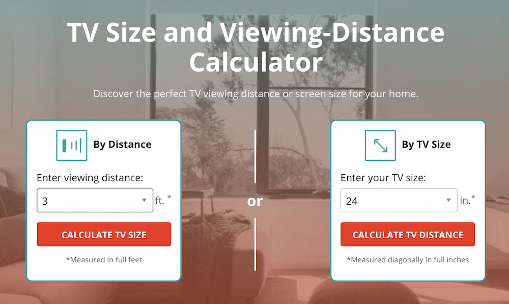 TV Viewing Distance Calculator