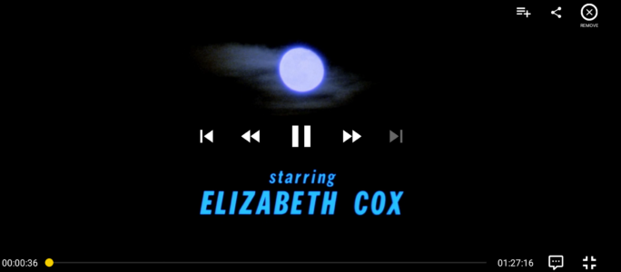 Full Moon Features playback controls