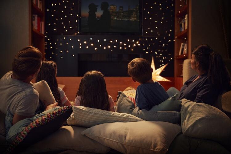 ¡Noche de películas en familia!