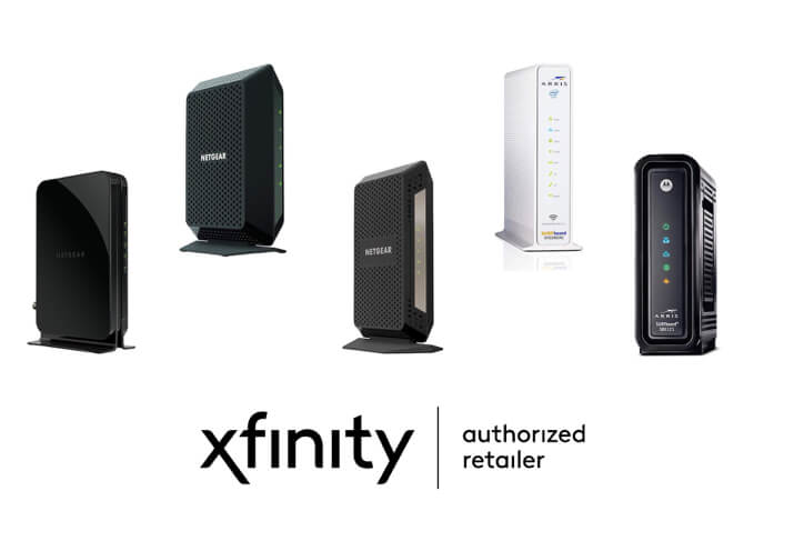 A variety of Xfinity compatible modems.
