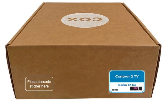 Cox self install box example
