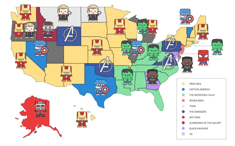 Your State's Favorite Marvel Movie | CableTV com